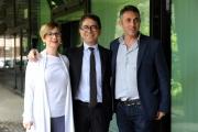 Foto/IPP/Gioia Botteghi 30/05/2014 Roma presentazione  del programma di rai tre Colpo di scena , otto puntate condotte da Pino Strabioli, con lui il regista Fabio Masi e l'autrice Assunta Magistro