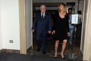 Foto/IPP/Gioia Botteghi   05/06/2014 Roma  presentazione del film Walesa l_uomo della speranza, nella foto Lech Walesa con la sua accompagnatrice dell'ambasciata
