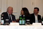 Foto/IPP/Gioia Botteghi   05/06/2014 Roma  presentazione del film Walesa l_uomo della speranza, nella foto Lech Walesa, Maria Rosaria Omaggio Robert Wieckiewicx