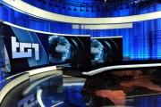 Foto/IPP/Gioia Botteghi     06/06/2014 Roma  il nuovo studio  digitale del tg1 , nella foto: studio