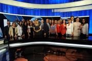 Foto/IPP/Gioia Botteghi     06/06/2014 Roma  il nuovo studio  digitale del tg1 , nella foto: studio tutti i conduttori