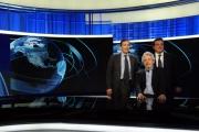 Foto/IPP/Gioia Botteghi   06/06/2014 Roma  il direttore generale della Rai Luigi Gubitosi presenta il nuovo studio del tg1 digitale con il direttore del tg Mario Orfeo con Nicola Piovani che ha firmato i nuovi stacchetti musicali