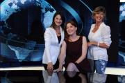 Foto/IPP/Gioia Botteghi     06/06/2014 Roma  il nuovo studio  digitale del tg1 , nella foto: Maria Soave, Barbara Carfagna, Valentina Bisti