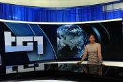 Foto/IPP/Gioia Botteghi     06/06/2014 Roma  il nuovo studio  digitale del tg1 , nella foto:  Barbara Capponi
