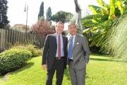 Foto/IPP/Gioia Botteghi 15/09/2014 Roma il nuovo conduttore di Ballarò Massimo Giannini con il direttore di rai3 Andrea Vianello