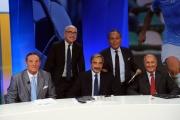 Foto/IPP/Gioia Botteghi 15/09/2014 Roma IL PROCESSO DEL LUNEDI, nella foto: Enrico Varriale con Marino Bartoletti, Sergio Brio, Enzo Bucchioni, Carlo Presutti