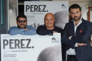 Foto/IPP/Gioia Botteghi 23/09/2014 Roma presentazione del film Perez, nella foto il regista Edoardo De Angelis, Luca Zingaretti, Marco D'Amore