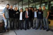 Foto/IPP/Gioia Botteghi       26/09/2014 Roma presentazione della nuova serie di GAZEBO, nella foto Diego Bianche in arte Zoro e quasi tutta la redazione con il direttore di rai tre Andrea Vianello