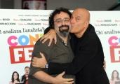 Foto/IPP/Gioia Botteghi 27/10/2014 Roma presentazione del film Confusi e felici, nella foto: Massimiliano Bruno e Claudio Bisio