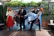 Foto/IPP/Gioia Botteghi 30/09/2014 Roma presentazione del film FRATELLI UNICI, nella foto Miriam Leone con Carolina Crescentini , Raoul Bova con Luca Argentero