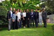 Foto/IPP/Gioia Botteghi  15/10/2014 Roma presentazione della fiction di raiuno LA STRADA DRITTA, nella foto:  il regista Carmine Elia con il cast