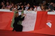 Foto/IPP/Gioia Botteghi 20/10/2014 Roma Romacinemafest red carpet, nella foto : la regista del film sui Spandau Ballet con i fans George Hencke