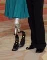 """Roma, Trasmissione """"Ballando con le stelle"""". Pictured : Giusy Versace, protesi con Swarowski"""