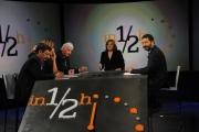 Foto/IPP/Gioia Botteghi  16/11/2014 Roma Lucia Annunziata ospita Ignazio Marino con alcuni rappresentanti del comitato del quartiere Tor Sapienza