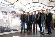 Foto/IPP/Gioia Botteghi  20/11/2014 Roma presentazione della fiction di rai uno UN MONDO NUOVO, nella foto il regista Alberto Negrin con il cast maschile