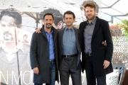 Foto/IPP/Gioia Botteghi  20/11/2014 Roma presentazione della fiction di rai uno UN MONDO NUOVO, nella foto Vinicio Marchioni, Orlando Cinque, Peppino Mazzotta