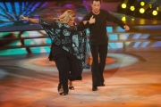 """Roma,  Trasmissione """"Ballando con le stelle"""". Pictured : Romina Power Fabrizio Graziani"""