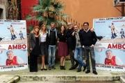 Foto/IPP/Gioia Botteghi  25/11/2014 Roma presentazione del film AMBO, nella foto il cast con il regista PIERLUIGI DI LALLO e la cantante Noemi