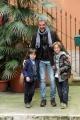 Foto/IPP/Gioia Botteghi  25/11/2014 Roma presentazione del film AMBO, nella foto il cast con il regista PIERLUIGI DI LALLO e i due bambini Marzio e Romano Falcione