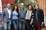 Foto/IPP/Gioia Botteghi  27/11/2014 Roma presentazione del film Neve, nella foto: il regista Stefano Incerti, Gallo, Attili, De Francesco, Elisha