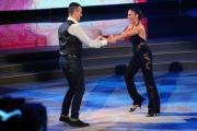 """Roma, Trasmissione """"Ballando con le stelle"""". Pictured : Giusy Versace, fratello Domenico"""