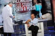 Foto/IPP/Gioia Botteghi   01/12/2014 Roma Vespa ed il vaccino in studio di Porta a porta