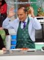 Foto/IPP/Gioia Botteghi    02/12/2014 Roma Bruno Vespa ospite di Antonella Clerici alla prova del cuoco