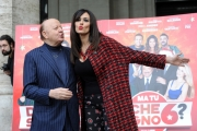 Foto/IPP/Gioia Botteghi    04/12/2014 Roma Presentazione del film DI CHE SEGNO SEI, nella foto:  Maria grazia Cucinotta Produttrice con Massimo Boldi