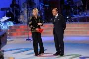 Foto/IPP/Gioia Botteghi 19/12/2014 Roma  serata speciale Un mondo da amare per rai uno, nella foto : Antinella Clerici e Bruno Vespa