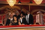 Foto/IPP/Gioia Botteghi 04/10/2014 Roma Ballando con le stelle, nella foto: La giuria Carolin Smith, Guillermo Mariotto, Ivan Zazzaroni, Fabio Canino, Rafael Amargo