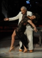 Foto/IPP/Gioia Botteghi 04/10/2014 Roma Ballando con le stelle, nella foto: Giorgio Albertazzi Elena Coniglio