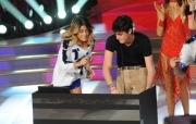 Foto/IPP/Gioia Botteghi 04/10/2014 Roma Ballando con le stelle, nella foto: Martina Stoessel ( Violetta) con il fratello DJ