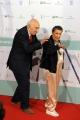 Foto/IPP/Gioia Botteghi 10/06/2014 Roma premio David di Donatello Giuliano Montaldo con la moglie