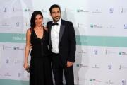 Foto/IPP/Gioia Botteghi 10/06/2014 Roma premio David di Donatello Edoardo Leo con signora