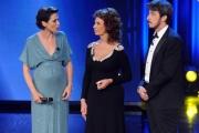 Foto/IPP/Gioia Botteghi 10/06/2014 Roma premio David di Donatello Sophia Lore con i due presentatori Ruffini e Foglietta