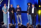 Foto/IPP/Gioia Botteghi 10/06/2014 Roma premio David di Donatello miglior musicista Pivio e Aldo De Scalzi, premia Caparezza
