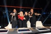 Foto/IPP/Gioia Botteghi 30/01/2015 Roma terza puntata di Forte forte forte, nella foto  Carrà, Cortes, Argento, Plein