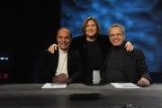 Foto/IPP/Gioia Botteghi 18/01/2015 Roma Puntata di In mezz'ora con Lucia Annunziata , Bruno Vespa e Enrico Mentana
