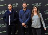 Foto/IPP/Gioia Botteghi 26/01/2015 Roma presentazione del film VIZIO DI FORMA nella foto: Paul Thomas Anderson (regista) Joaquin Phoenix (interprete) JoAnne Sellar (produttrice)