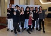 Foto/IPP/Gioia Botteghi 04/02/2015 Roma presentazione della fiction di rai uno Braccialetti rossi 2, nella foto: Tutti i ragazzi con il regista Giacomo Campiotti