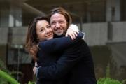 Foto/IPP/Gioia Botteghi 19/02/2015 Roma conferenza di presentazione dell film LE LEGGI DEL DESIDERIO, nella foto: Silvio Muccino con Carla Signoris
