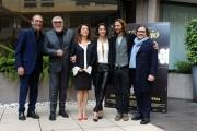 Foto/IPP/Gioia Botteghi 19/02/2015 Roma conferenza di presentazione dell film LE LEGGI DEL DESIDERIO, nella foto: il cast con il produttore Marco Belardi