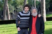 Foto/IPP/Gioia Botteghi 20/02/2015 Roma. Presentazione del film Meraviglioso Boccaccio. Nella foto Michele Riondino con Lello Arena
