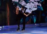 Foto/IPP/Gioia Botteghi 21/02/2015 Roma. prima puntata di Notti sul ghiaccio rai uno, nella foto: Barbara De Rossi e Simone Venturi