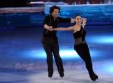 Foto/IPP/Gioia Botteghi 21/02/2015 Roma. prima puntata di Notti sul ghiaccio rai uno, nella foto: Girgio Rocca e Eve Bentley