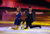 Foto/IPP/Gioia Botteghi 21/02/2015 Roma. prima puntata di Notti sul ghiaccio rai uno, nella foto: Clara Alonso e Marco Garavaglia