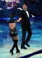 Foto/IPP/Gioia Botteghi 21/02/2015 Roma. prima puntata di Notti sul ghiaccio rai uno, nella foto: Giulio Base e Alice Velati