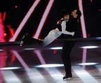 Foto/IPP/Gioia Botteghi 21/02/2015 Roma. prima puntata di Notti sul ghiaccio rai uno, nella foto: Manuela Di Centa e Andrea Venturi