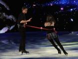 Foto/IPP/Gioia Botteghi 21/02/2015 Roma. prima puntata di Notti sul ghiaccio rai uno, nella foto: Emanuele Filiberto di Savoia e Jennifer Wester