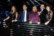 Foto/IPP/Gioia Botteghi 28/02/2015 Roma seconda puntata di Notti sul ghiaccio, nella foto: la giuria, Ventura, Liorni, Pession, Miccio, Lucarelli